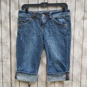 Candie's Jrs Bermuda Blue Denim Shorts Size 7